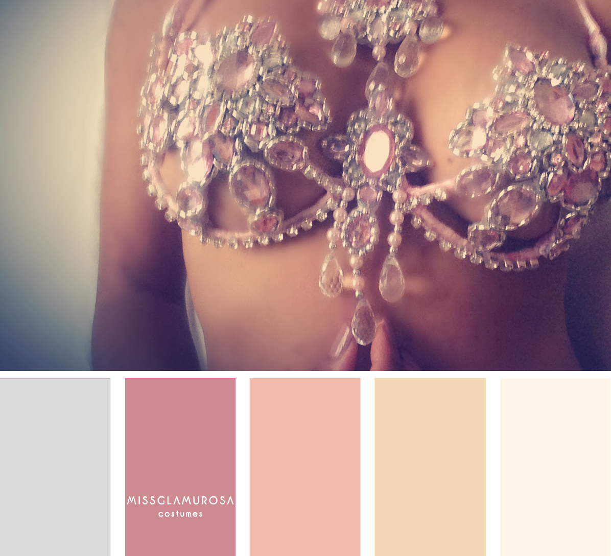 Color palette ideas for samba costume by Miss Glamurosa Costumes