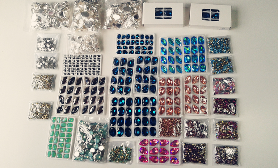 Crystal gems for samba costumes by Miss Glamurosa Costumes