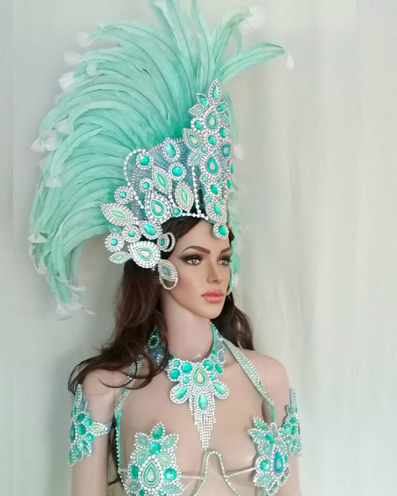 LUNA - Handmade samba costumes for sale, online Boutique by Miss Glamurosa Costumes