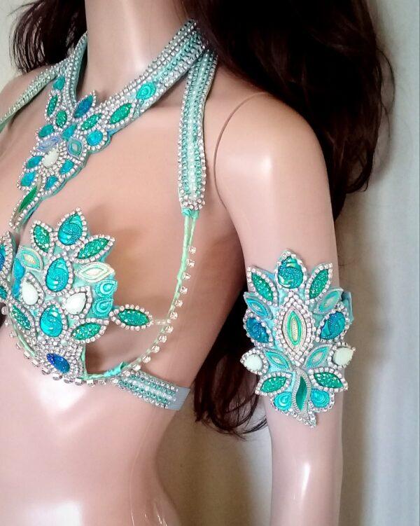 BLUE DIVINE - New Handmade Samba Costume by Miss Glamurosa Costumes