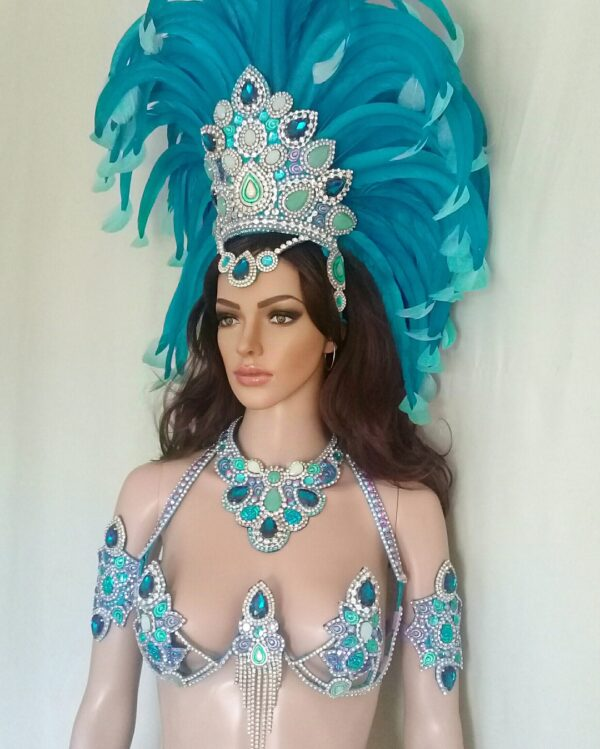 MYSTIQUE - New Handmade Samba Costume by Miss Glamurosa Costumes